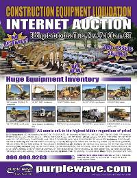 November 17 construction equipment auction flyer