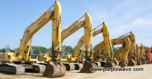 Excavators in November 17 construction equipment auction