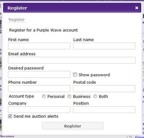 New registration form