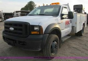 2007 Ford F550 XL Super Duty service truck