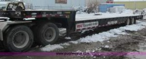 2005 Ledwell 48' tandem axle hydratail tilt bed trailer