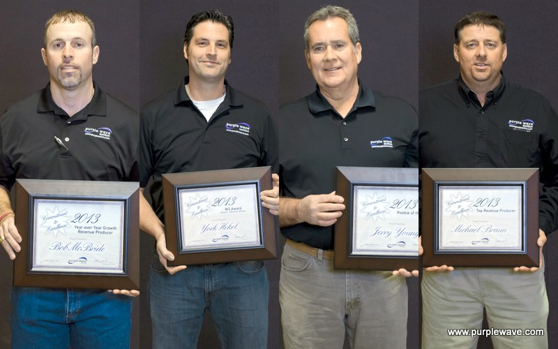 2013 award recipients Bob McBride, York Hekel, Jerry Young and Michael Braun