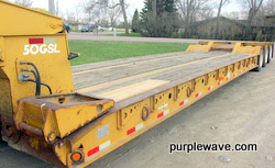 2000 Eager Beaver 50GSL triple axle detachable lowboy trailer